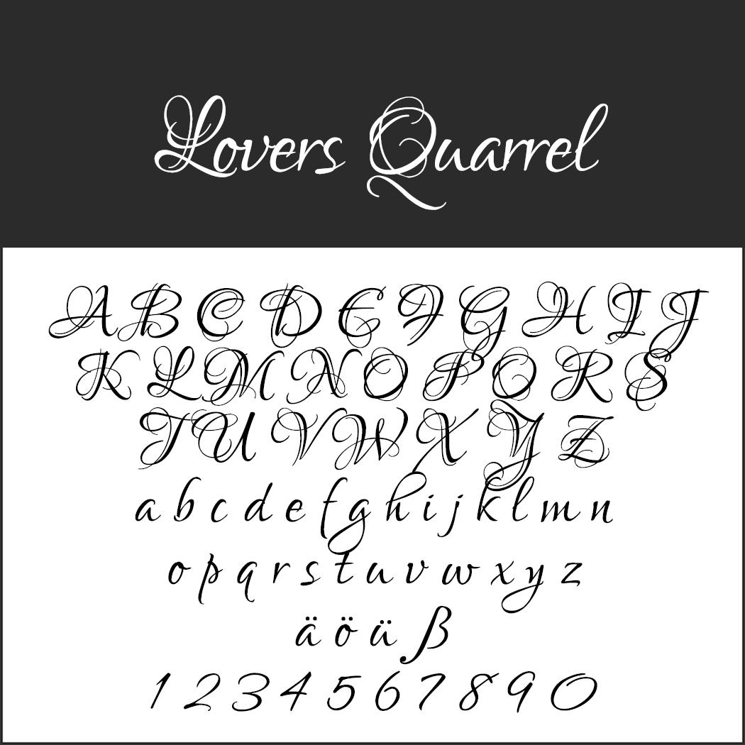 Künstlerische Schreibschrift: Lovers Quarrel