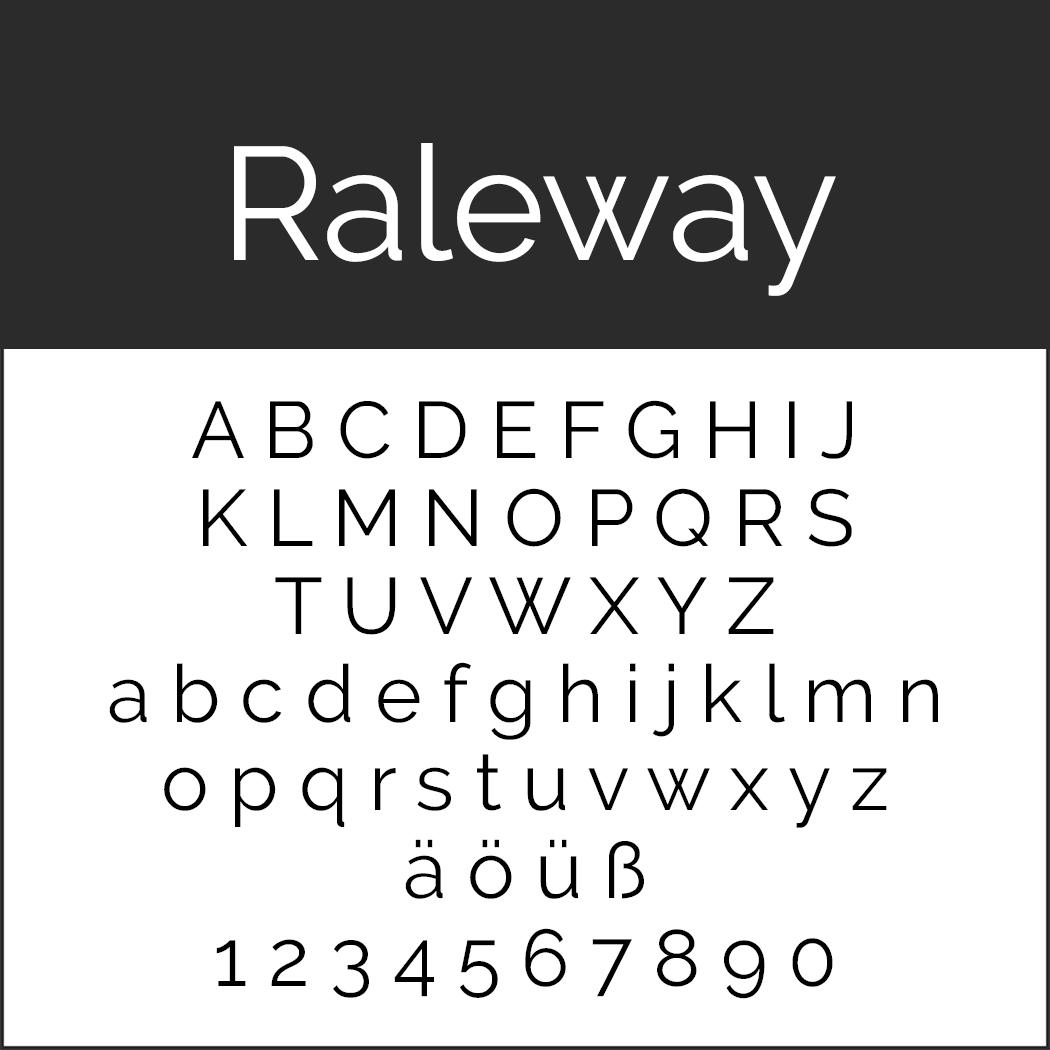 Künstlerische Schrift: Raleway