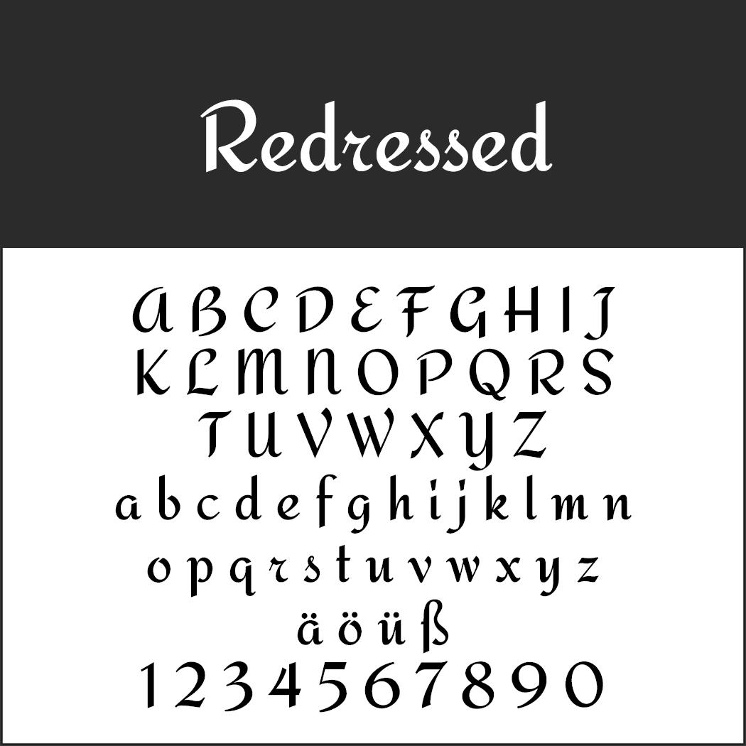 """Schöne Handschriftart """"Redressed"""""""