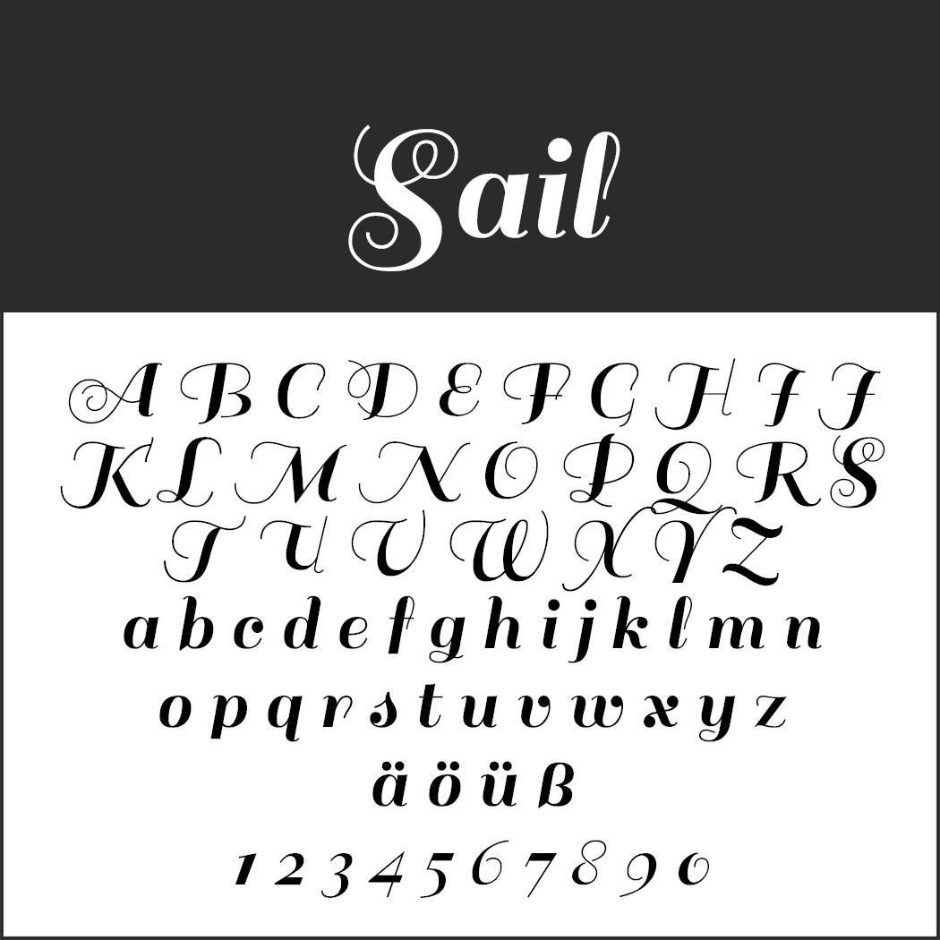 """Schöne Schriftarten: """"Sail"""""""