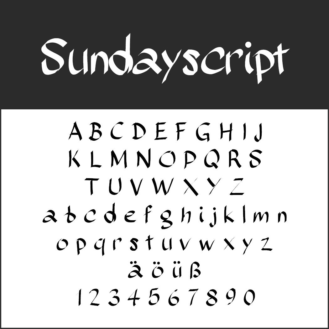 Künstlerische Schrift: Sudayscript