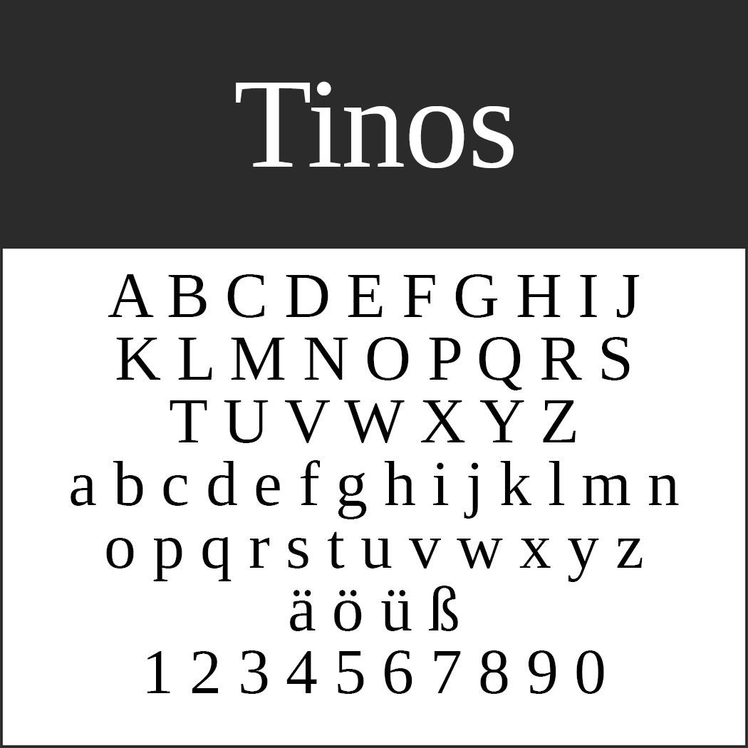 """Schöne Serifenschriftart """"Tinos"""""""