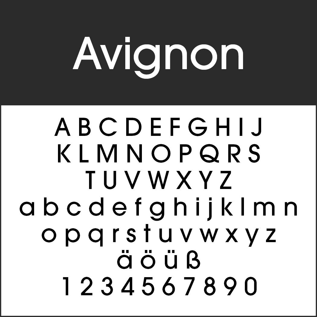 Schriftart 20er Jahre: Avignon