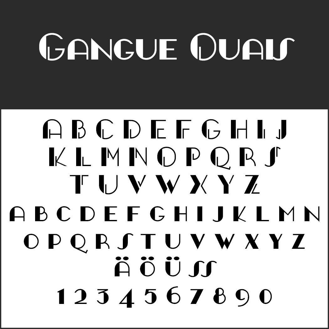 Schriftart 20er Jahre: GANGUE OUAIS