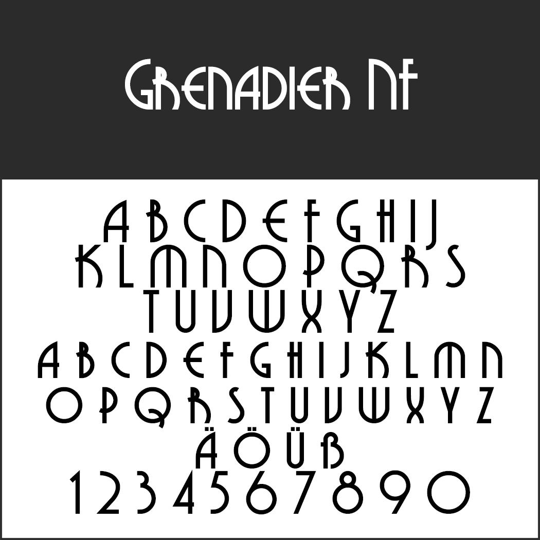 20er Jahre Schrift: Grenadier NF