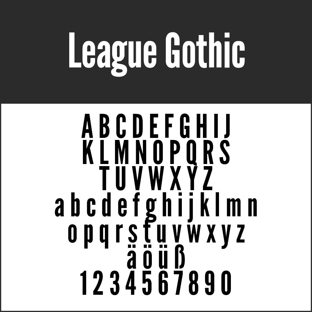 Schriftart Gothic