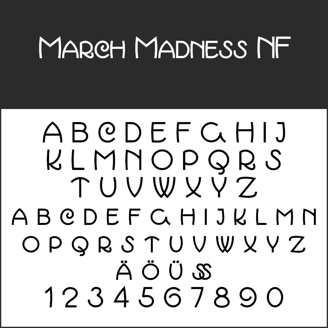 Schriftart 20er Jahre: March Madness NF