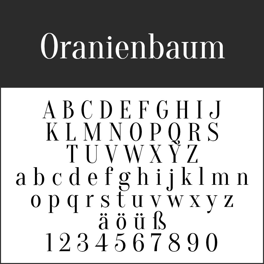 Schriftart 20er Jahre: Oranienbaum