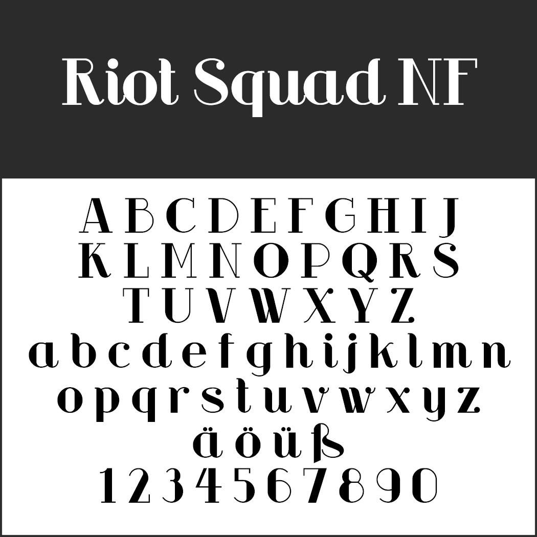 Schriftart 20er Jahre: Riot Squad NF