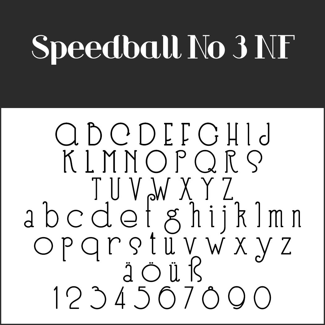 1920er Schrift: Speedball No 3 NF