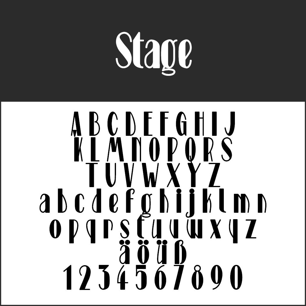 Schriftart 20er Jahre: Stage