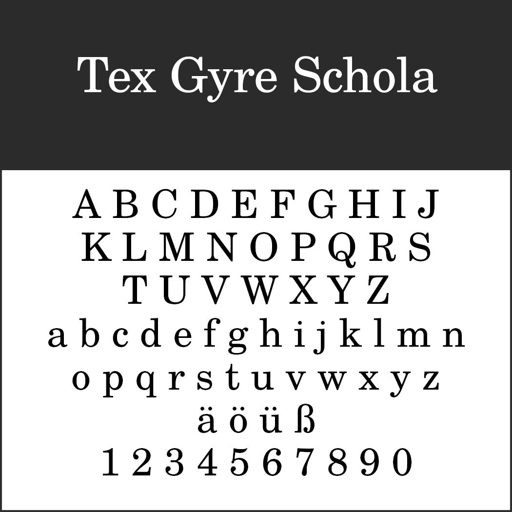 Schriftart 20er Jahre: Tex Gyre Schola