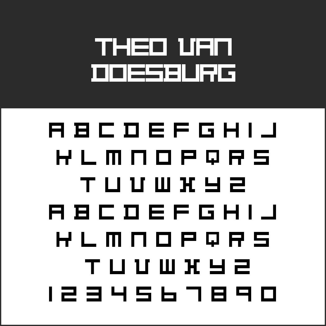 Schrift: Theo van Doesburg