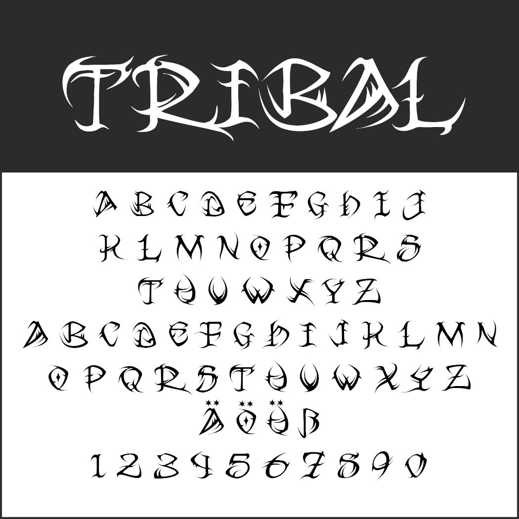 Tattoo Schriftarten