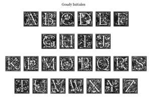Initialschrift: Goudy Initialen