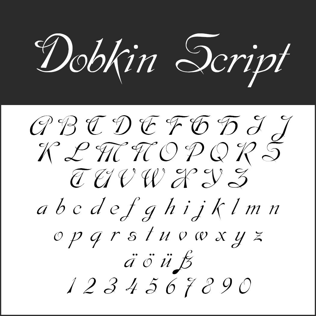 Edle Schriftart: Dobkin Script