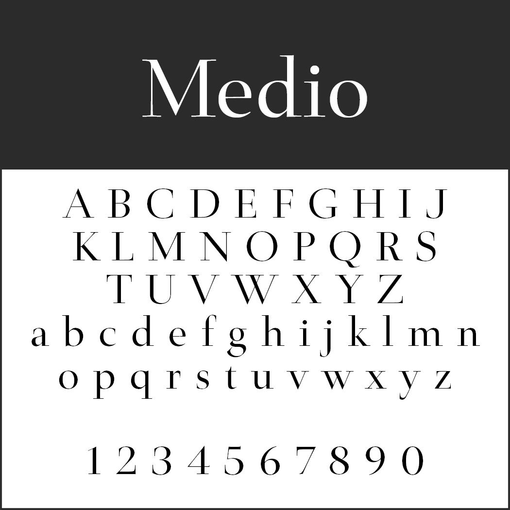 Edle Schriftart: Medio