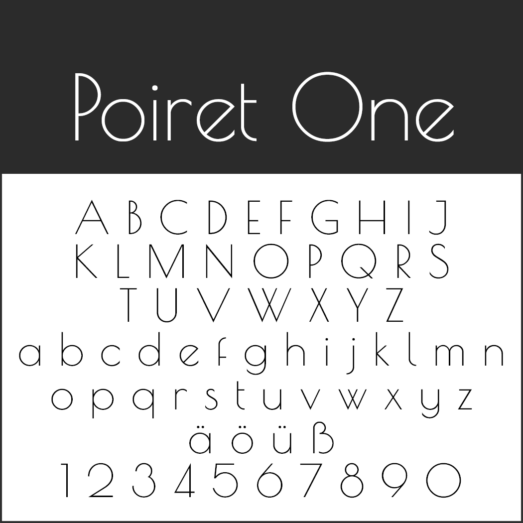 Edle Schriftart: Poiret One