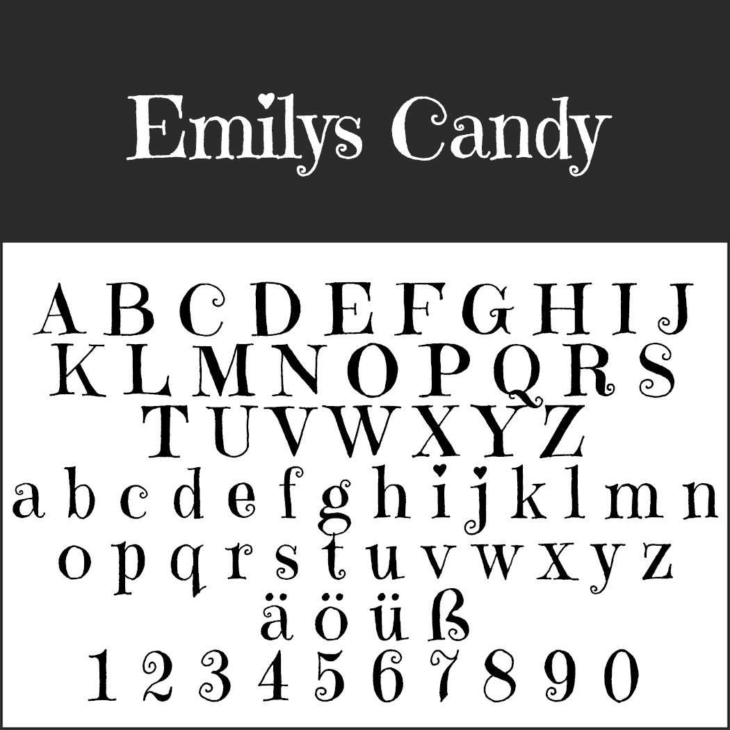 Font Template Emilys Candy