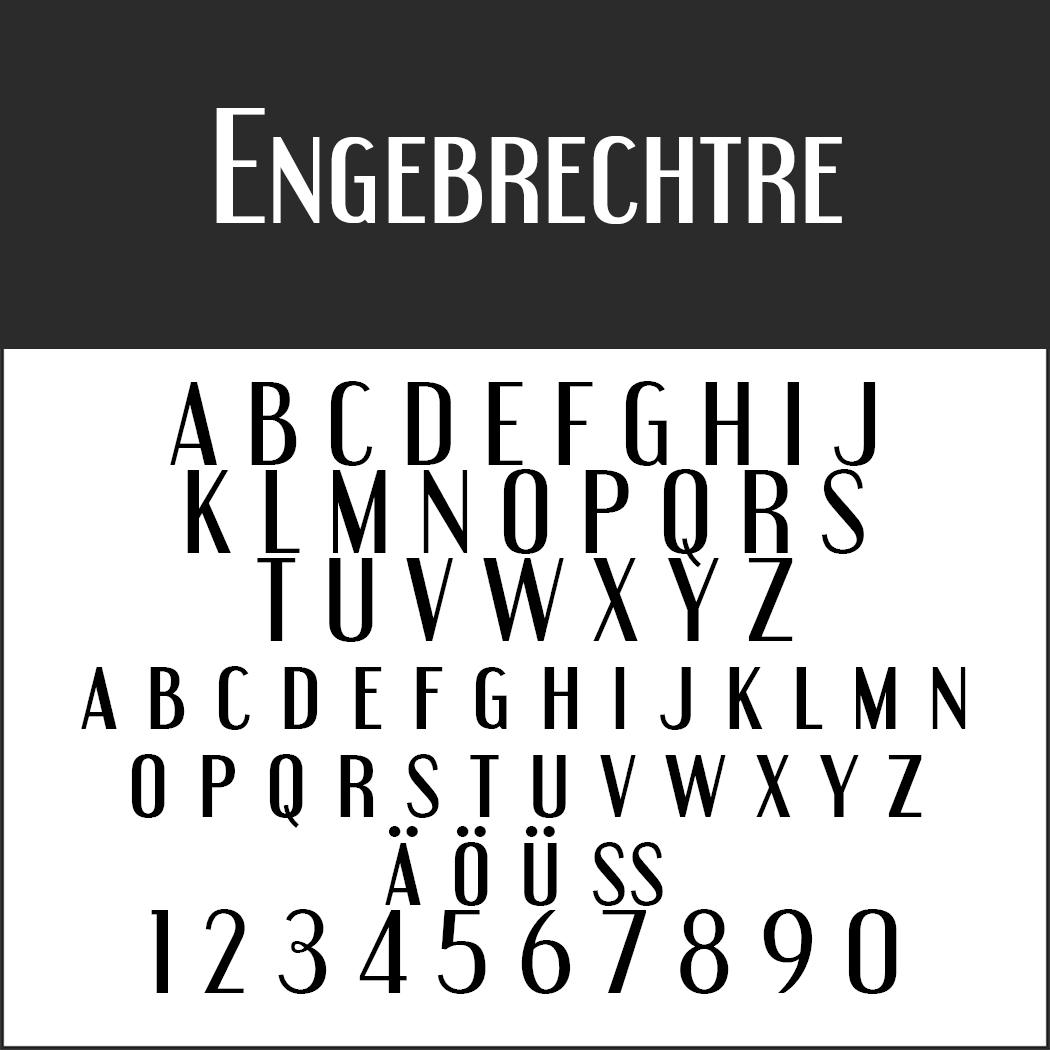 Schriftart Großbuchstaben Engebrechtre