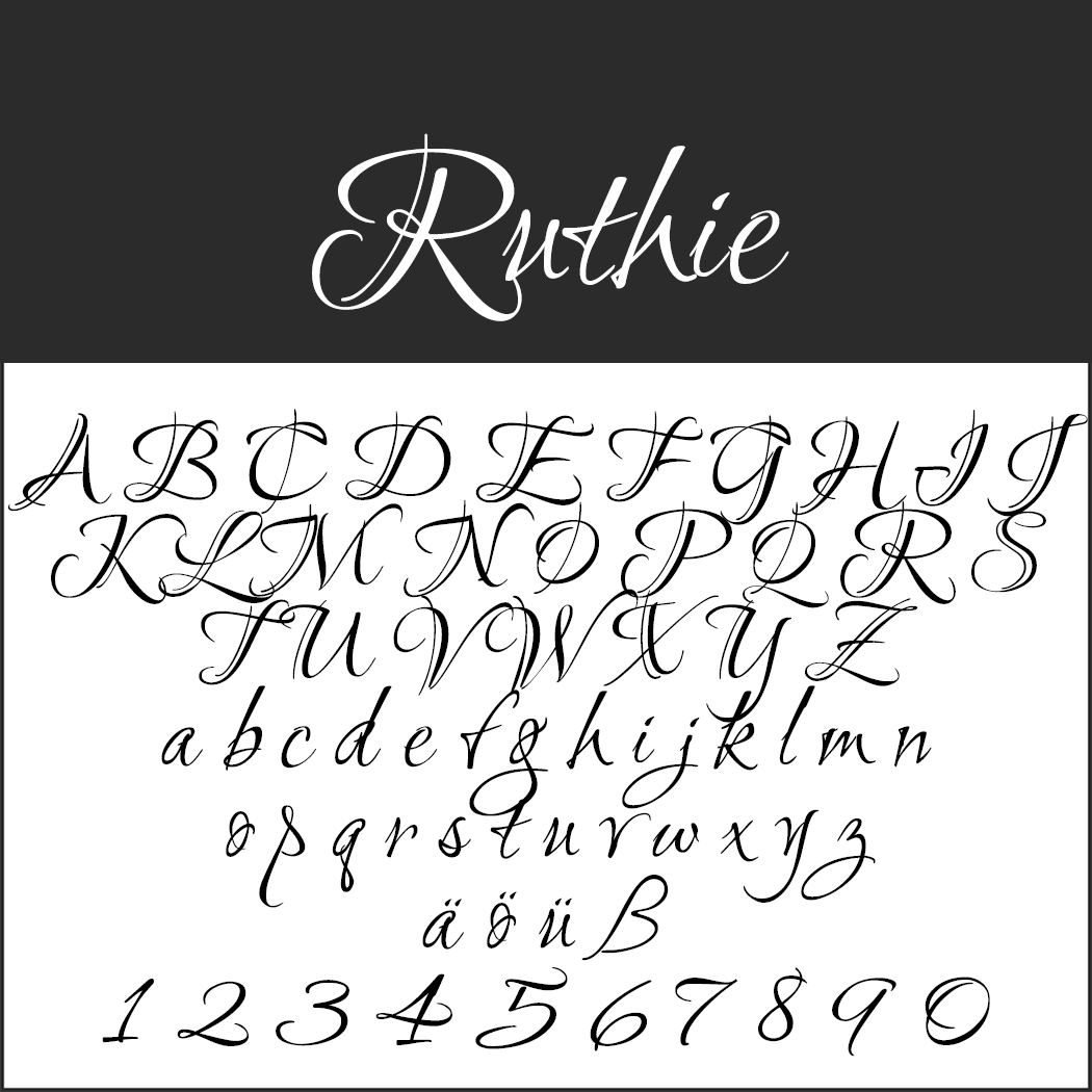 Font Template Ruthie