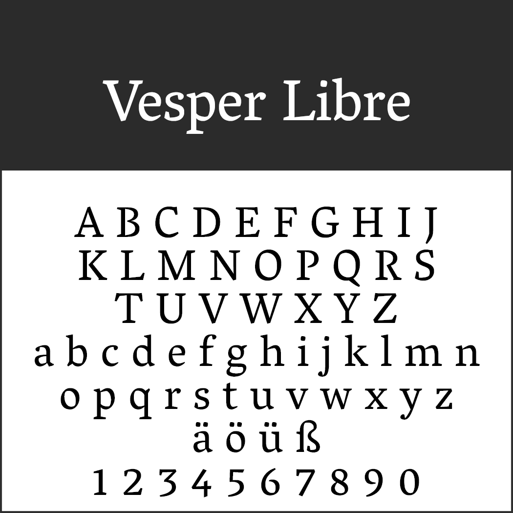 Romantische Schriftart - Vesper Libre