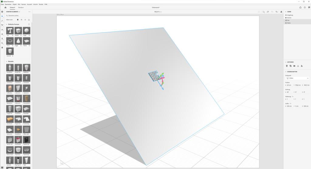 Objekt-an-Fläche-ausrichten_Adobe-Dimension