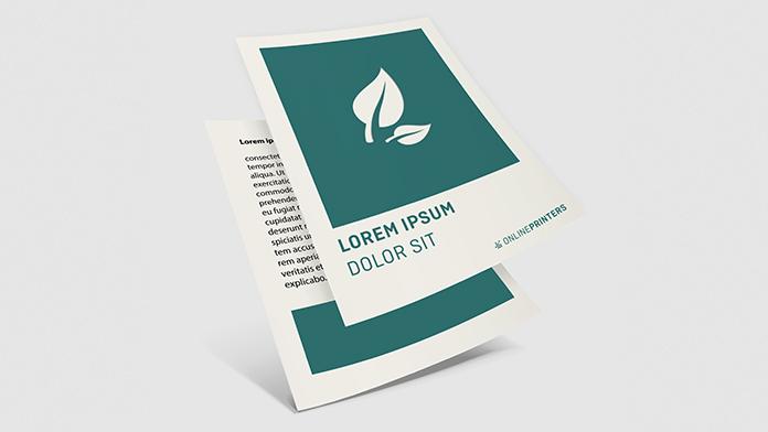 Flyer aus Öko- & Naturpapier
