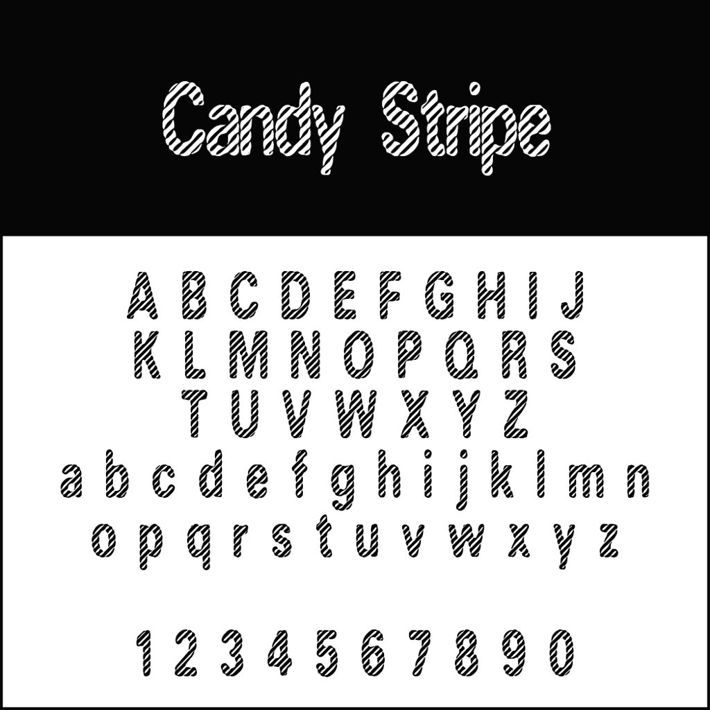 Christmas Fonts: Candy Stripe
