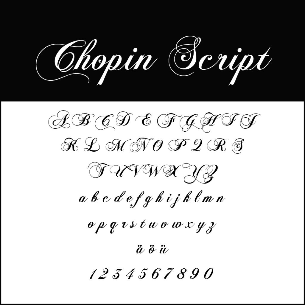 Christmas Fonts _ Font Chopin Script
