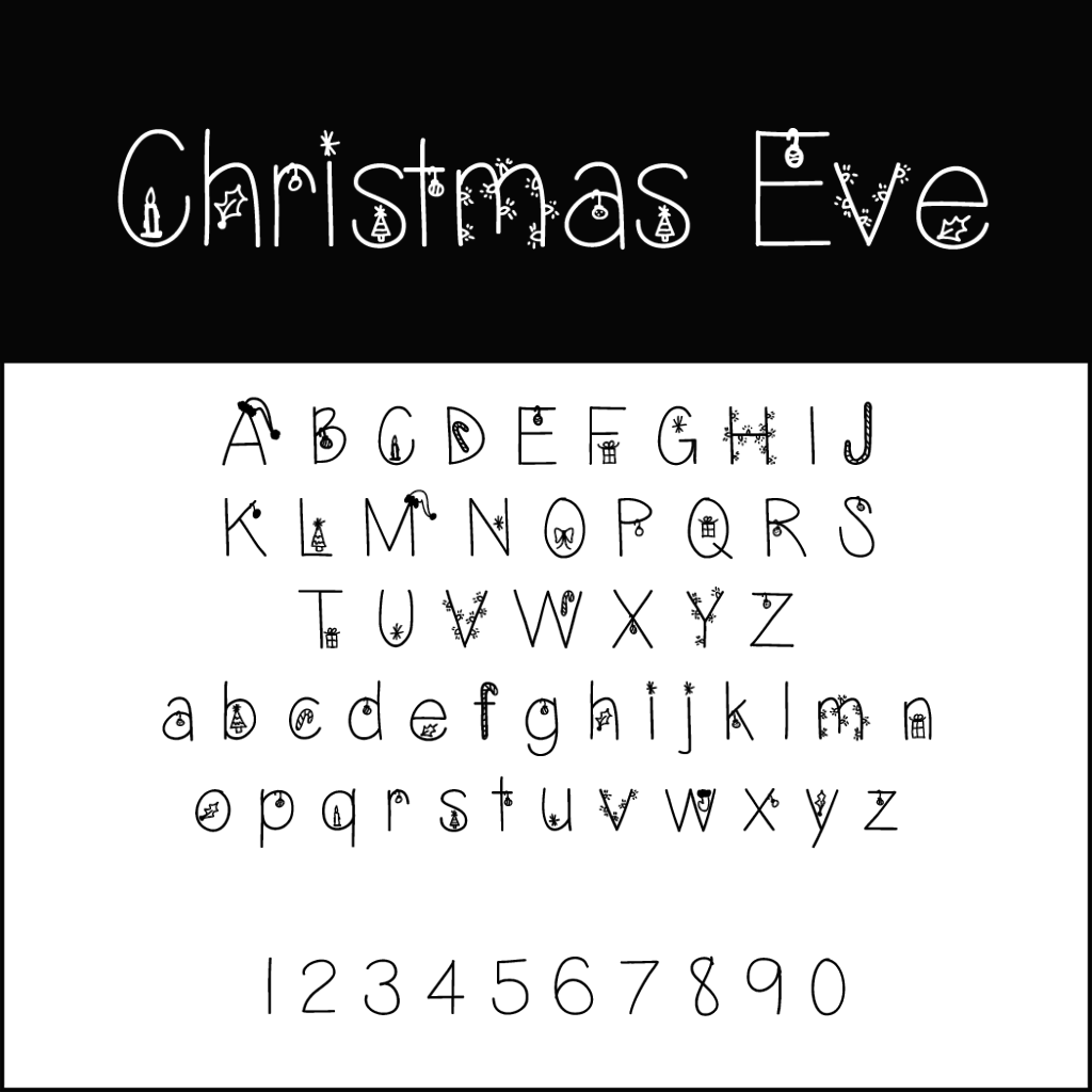 Christmas Fonts: Christmas Eve