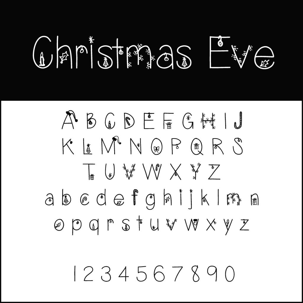Christmas Fonts: Christmas Eve