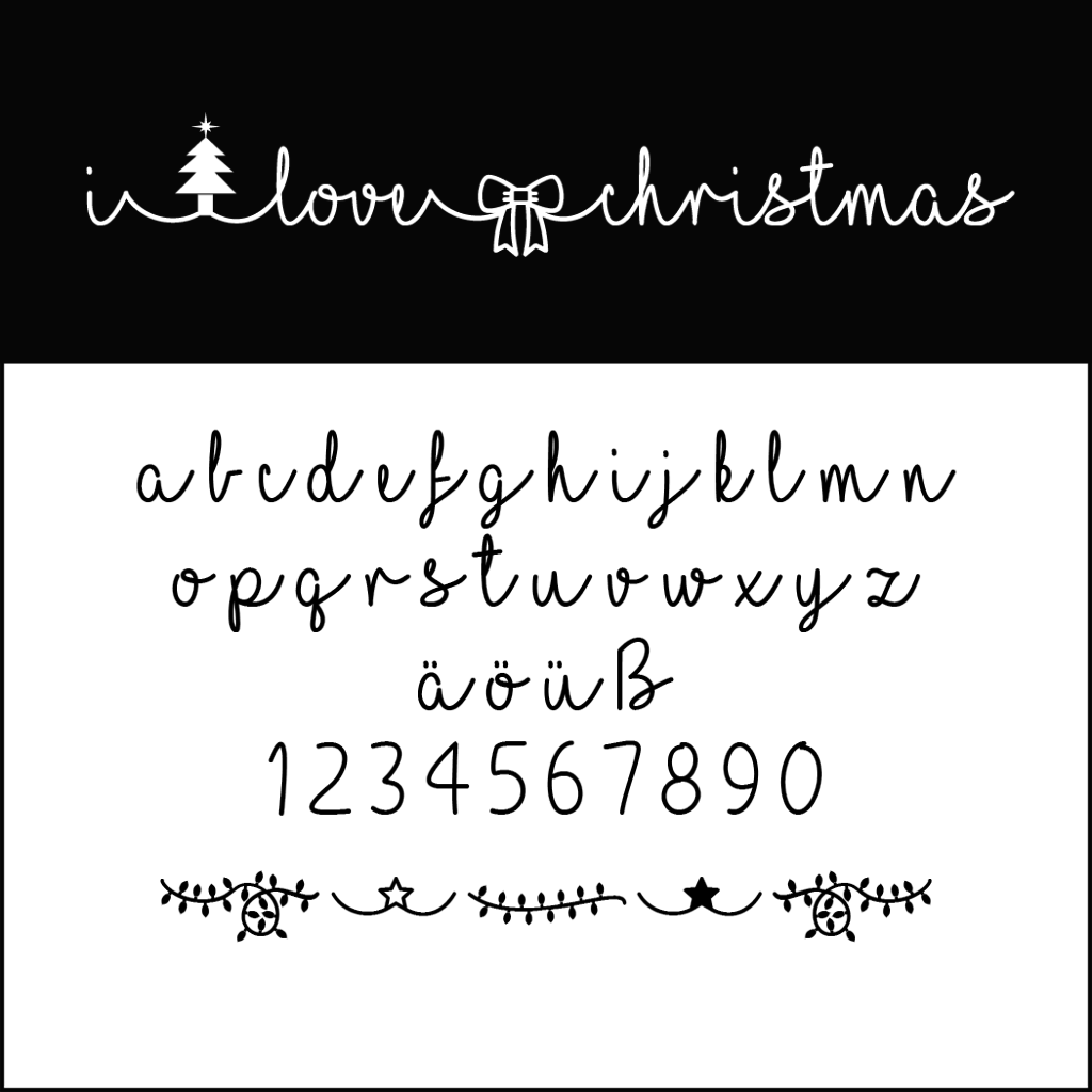 Christmas Fonts: I love christmas