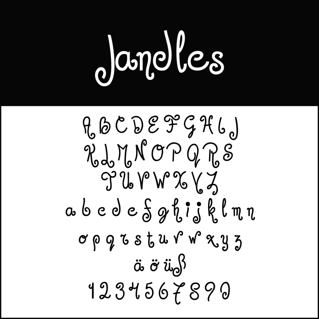 Christmas Fonts: Jandles