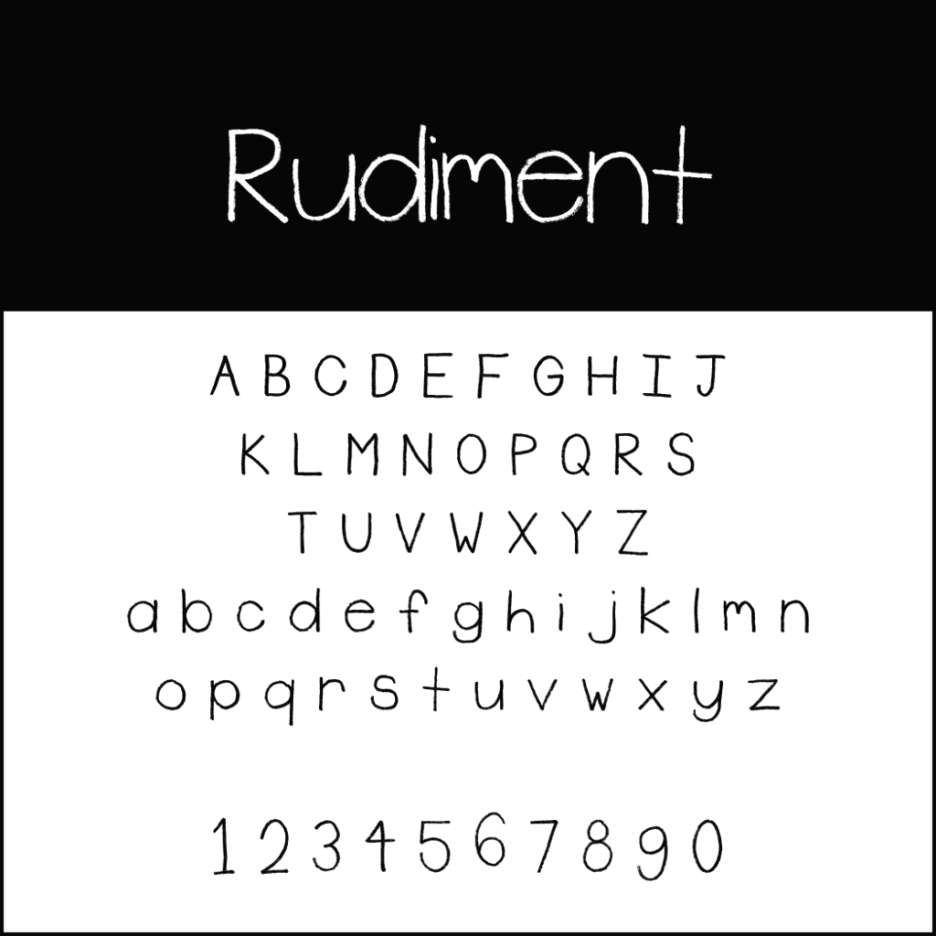 Christmas Fonts: Rudiment