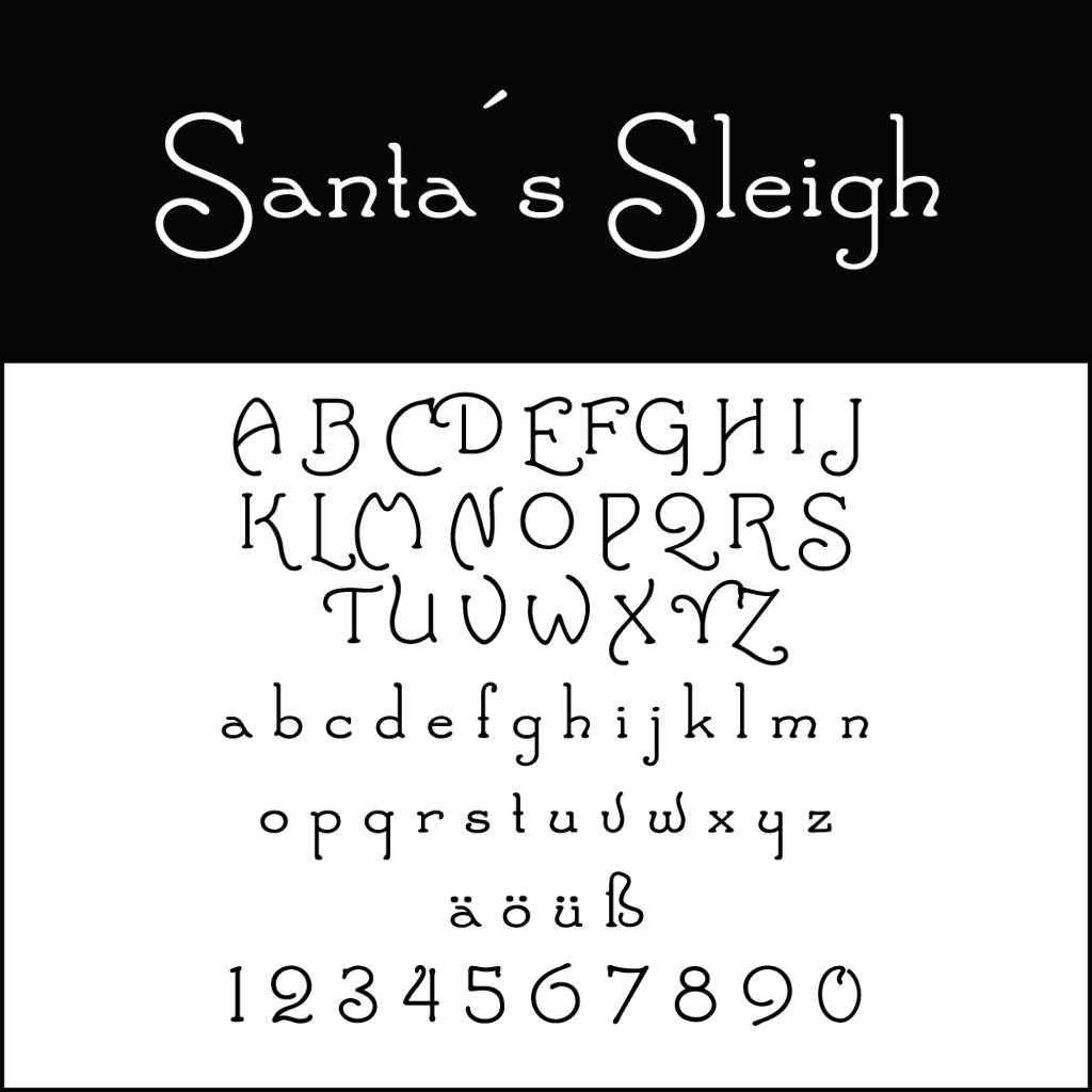 Christmas Fonts: Santas Sleigh