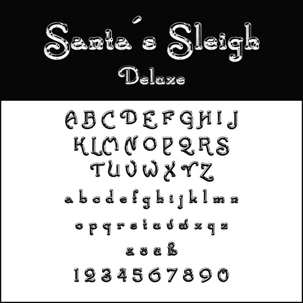 Christmas Fonts: Santas Sleigh Deluxe
