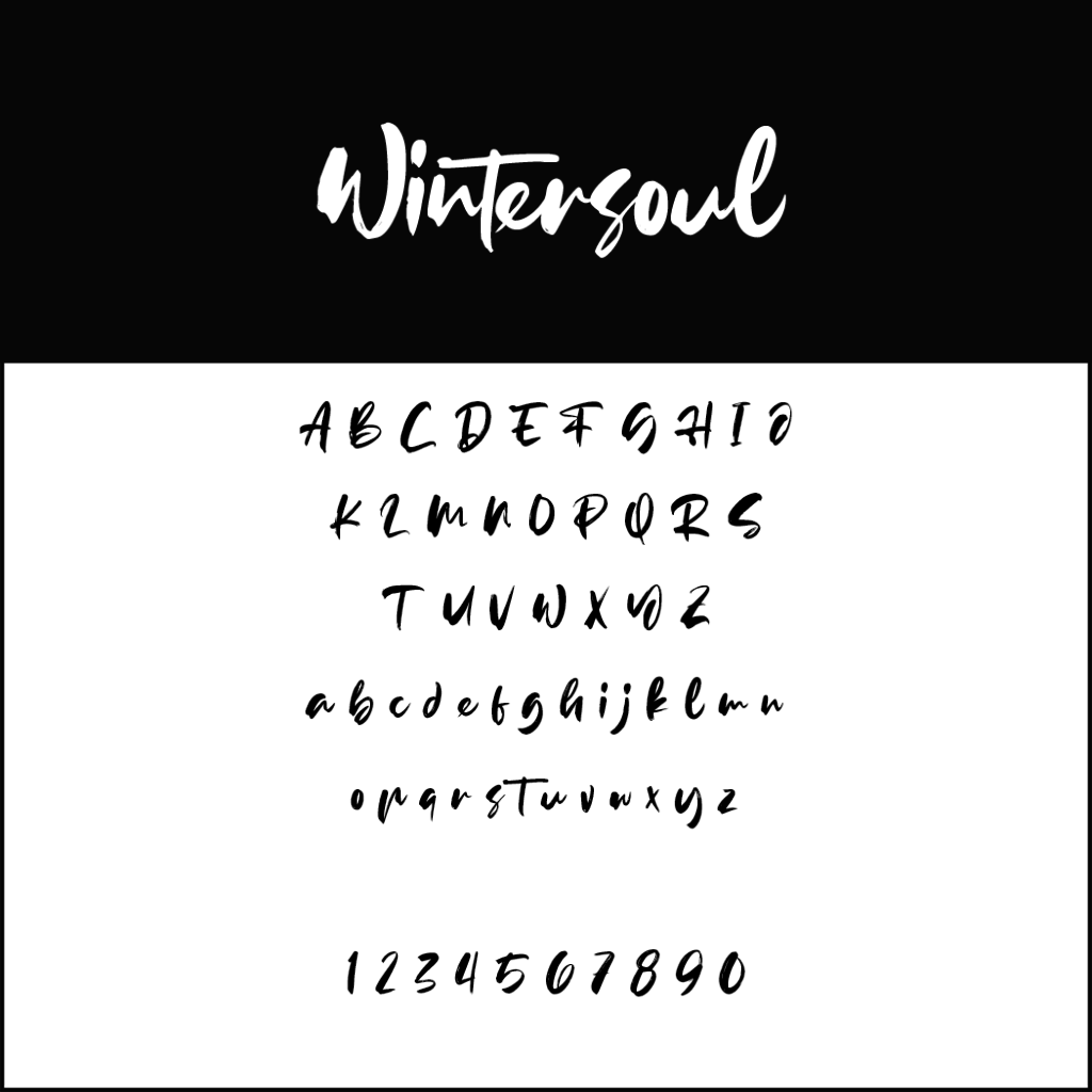 Christmas Fonts _ Wintersoul