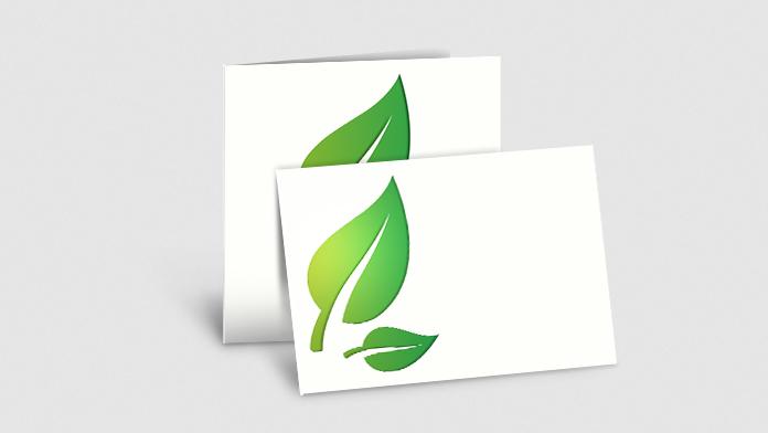 Klappkarten aus Öko- & Naturpapier