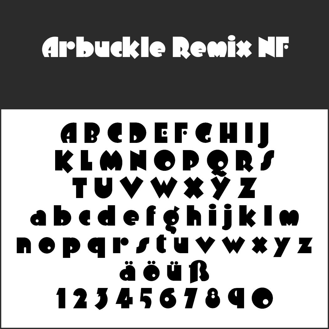 Comic-Schriftart: Arbuckle Remix NF