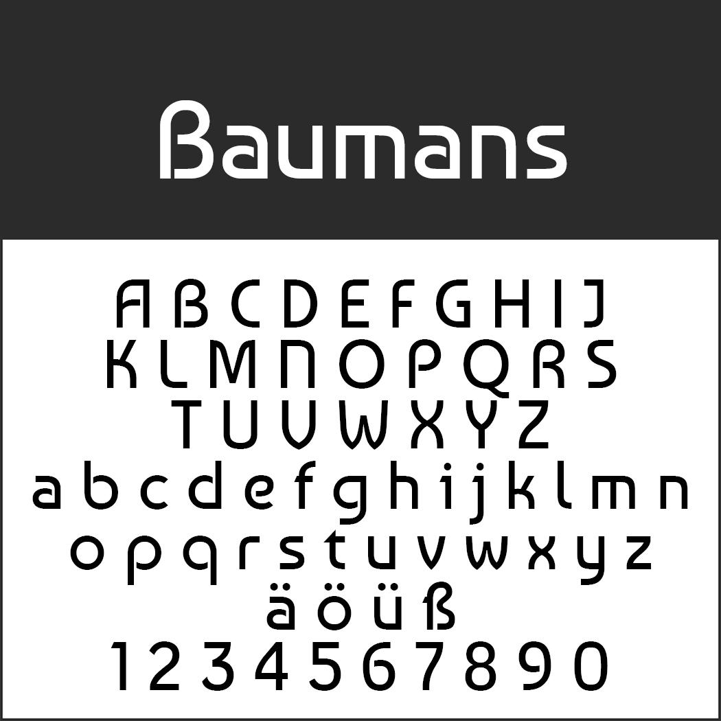 Schriftart Bauhaus Baumans