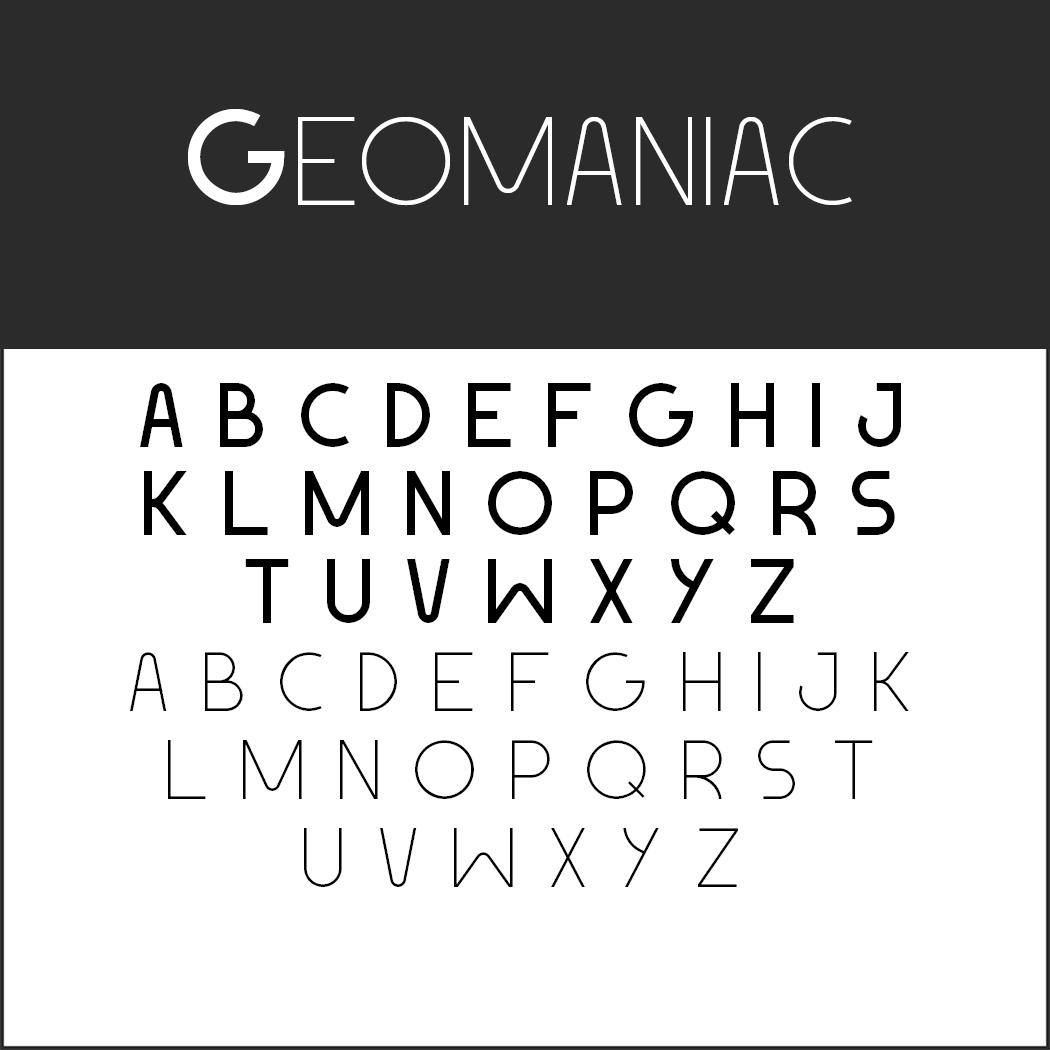 Schriftart Bauhaus Geomaniac