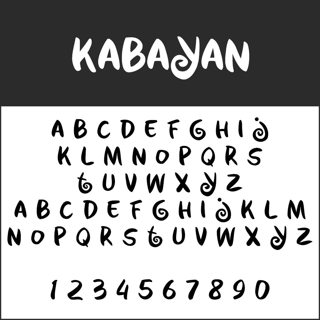 Comic-Schriftarten: Kabayan