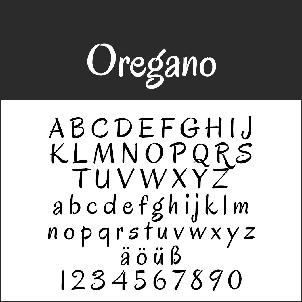Comic-Schriftarten: Oregano