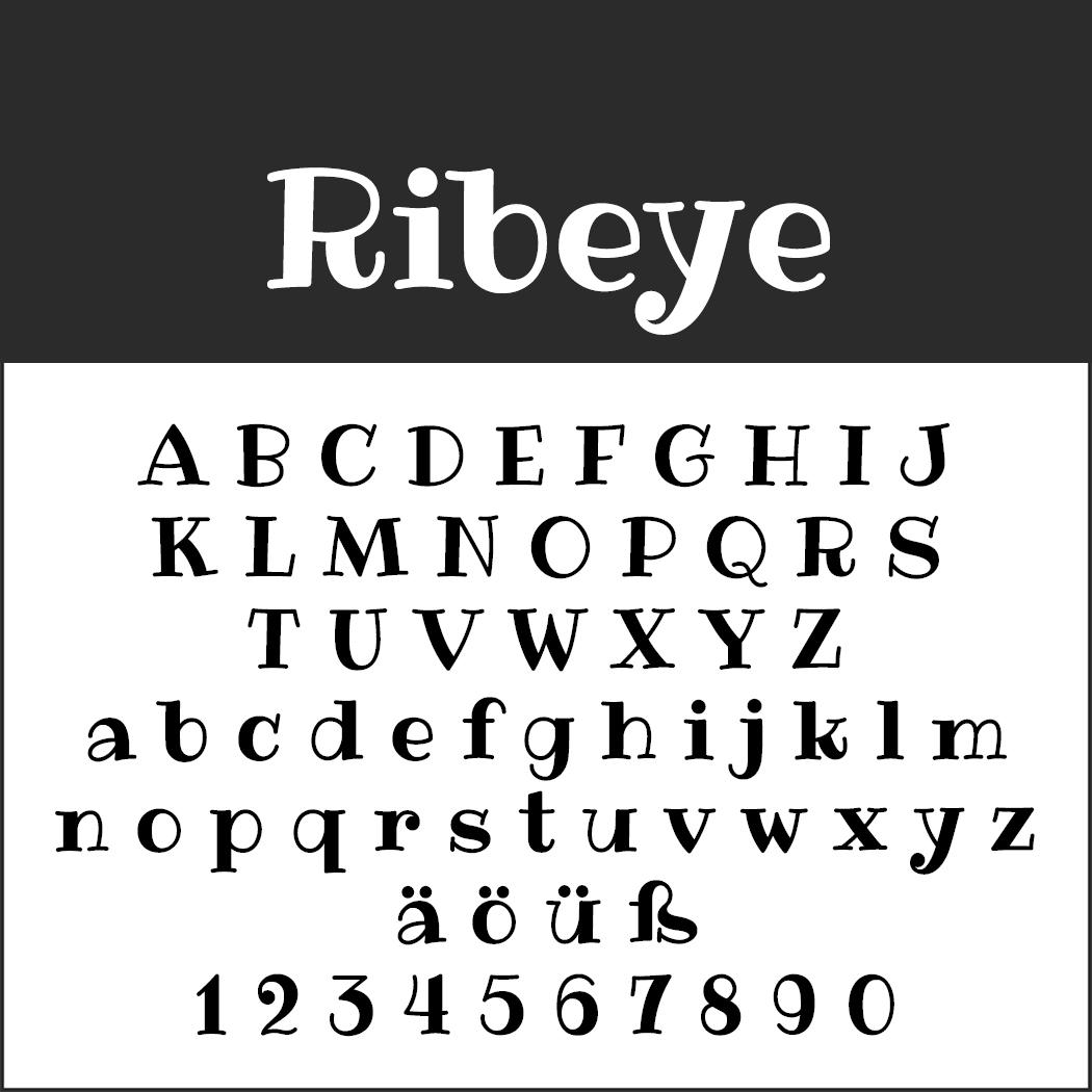 Schrift Ribeye