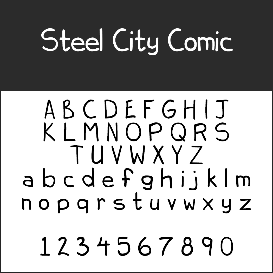 Comic-Schriftarten: Steel City Comic