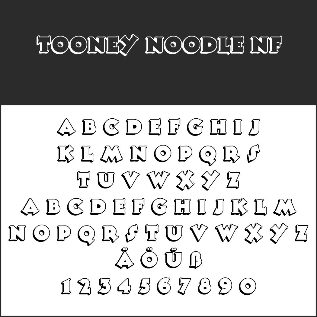 Comic-Schriftarten: Tooney Noodle NF