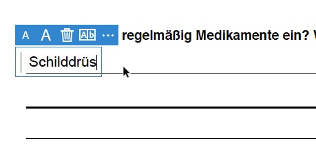 PDF ausfüllen - nichtproportional