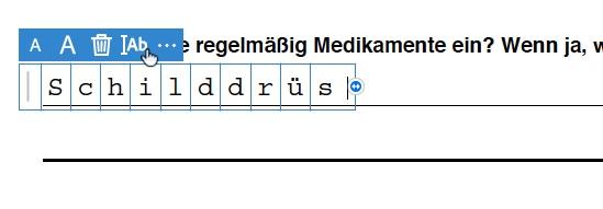 PDF ausfüllen - proportional