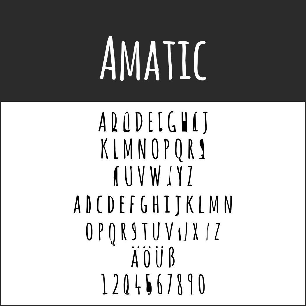Schriftarten Handschrift: Amatic